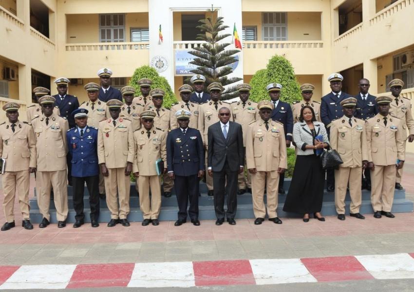 Visite à la base navale Amiral Faye Gassama