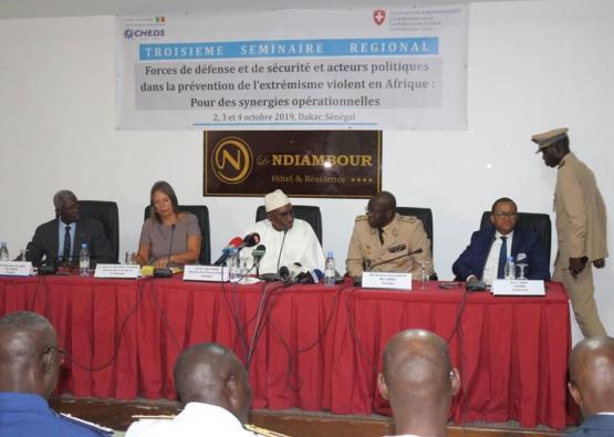 Cérémonie d'ouverture du 3° séminaire régionale des Forces de Défense et de Sécurité